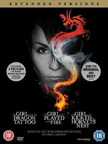 The Girl with the Dragon Tattoo / The Girl who Played with Fire / The Girl who Kicked the Hornet's Nest (Extended Versions) [DVD] by Noomi Rapace
