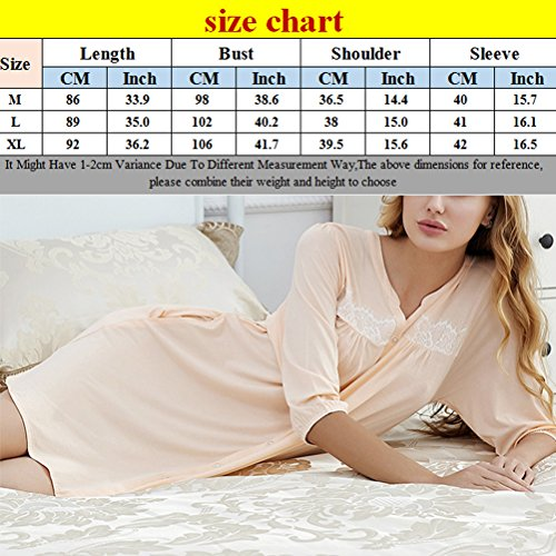 Zhhlinyuan Adult Comfortable Simple Sleep Skirt Unique Design Womens Button Pajamas Dark Gray