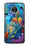 Innovedesire Underwater World Cartoon Funda Carcasa Case para Motorola Moto E4 Plus