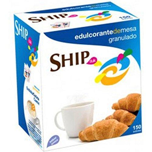 SACARINA SHIP, CAJA DISPENSADOR CON 150 SOBRES DE 1GR
