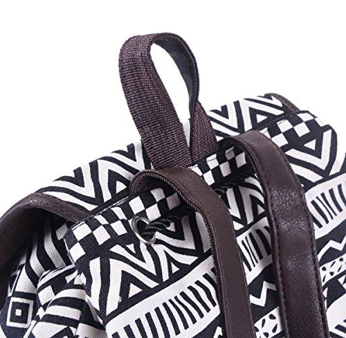 Coofit Herren Damen Vintage Casual Canvas Schultaschen Segeltuch Taschen Freizeitrucksack -