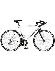 Viking Elite 700 C 18 SPD STI - BMX de carreras para hombre, rueda 28 in, color blanco