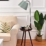 Massivholz Stehlampe Wohnzimmer Nachttischlampe Nordic Stehleuchte Vertikale Regale Couchtisch Lichter Standleuchten (Farbe : G)