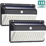Luz Solar Exterior 118 LED, Trswyop【Versión Impermeable 2...