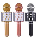 #4: Finiviva Handheld Bluetooth Wireless Microphone Condenser Mic With Speaker Audio Recording Compatible With Ios/Android Smartphones (Multicolour)
