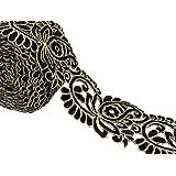 Cortar La elaboración de trabajo de la tela bordada recorte 8,89 cm de ancho Modelo de Paisley por el astillero