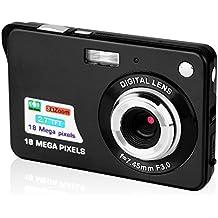Mini Kamera Mini-Digitalkamera, Stoga C3 Dfun 2.7 Zoll TFT LCD HD Mini-Digitalkamera mini nachhaltige Videokamera Mini Kamera Video Recorder Mini Kamera Digitale Kamera Mini HD Spionage Kamera DVR Überwachungs Kamera-Schwarz