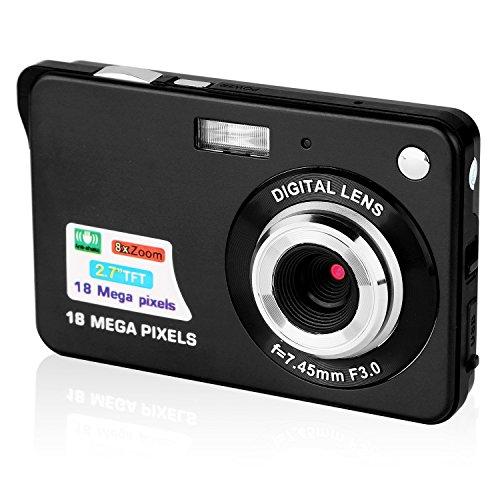Galleria fotografica Macchina Fotografica Compatta, Stoga Dfun C3 2.7 inch TFT LCD HD Mini Digital macchina fotografica--Nero