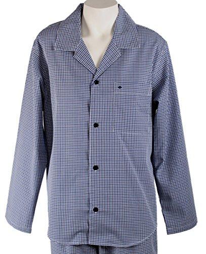 Seidensticker Herren Zweiteiliger Schlafanzug Pyjama lang Blau