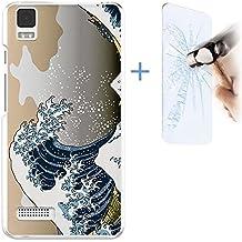 Becool® - Funda Gel Flexible para Huawei Enjoy 5 .Carcasa TPU fabricada con la mejor Silicona protege, se adapta a la perfección a tu Smartphone y con nuestro diseño exclusivo + [Protector de Pantalla Cristal Vidrio Templado Premium, Ultra Resistente contra Arañazos y golpes, Dureza 9H]