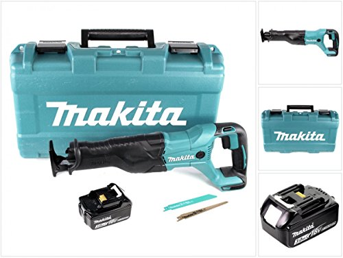 Preisvergleich Produktbild Makita DJR 186 F1K 18 V Li-Ion Akku Säbelsäge Reciprosäge im Transportkoffer - mit 1x BL 1830 3,0 Ah Akku, ohne Ladegerät