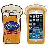 iPhone 5 5S 5C SE Coque Etui Silicone Original Intéressant 3D Une Tasse de Bière...