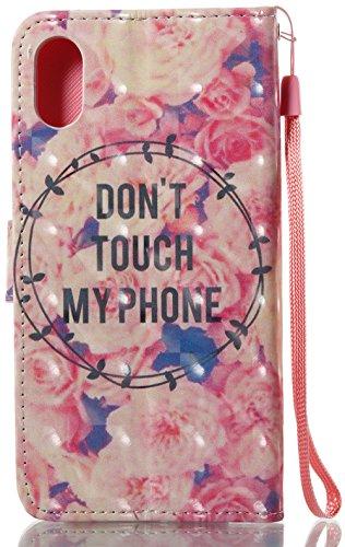 Coque Iphone X Edition, Iphone X Case, Iphone X Coque, Iphone X Protection, Coque Iphone 10 euros, Nnopbeclik® à Rabat Fonction Wallet/Portefeuille en Bonne Qualité PU Cuir Housse (5.8 Pouces) Peint 3 fleur4