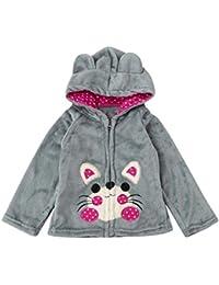 Koly Bebé Niños Niñas Capa con Capucha Animal Vestidos de abrigo para invierno Niña sudaderas con