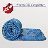 Divine Casa Luxor Microfibre Single Comforter - Denim Blue (110 GSM)