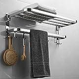 HOME99 Premium Towel Rack for Bathroom/Towel Stand/Hanger/Bathroom Accessories (24 Inch-Chrome)