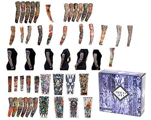 Stretch Fußball Kostüm - Tattoo2Go - 50-teilige neue Imitat Arm-Sleeves/ Leg-Stockings - kurzfristige fantastische Kostüm-Designs.