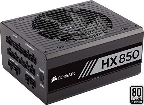 Corsair HX850 PC-Netzteil (Voll-Modulares Kabelmanagement, 80 Plus Platinum, 850 Watt, EU)