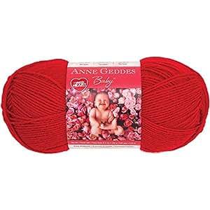 Coeur rouge Anne Geddes bébé laine-coccinelle