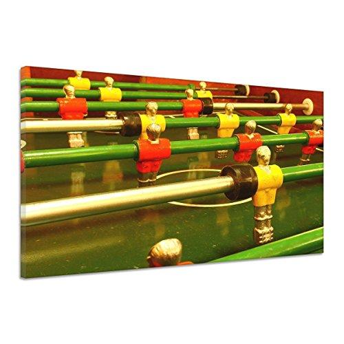 Fußball Tisch Kicker Spiel Feld Holz Figuren Leinwand Poster Druck Bild qq0090 40x30