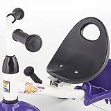 Kettler Funtrike Waldi - das coole Dreirad mit Schiebestange - Kinderdreirad für Kinder ab 2 Jahren - stabiles Kinderfahrzeug inkl. kippbarer Sandschale - weiß & lila -