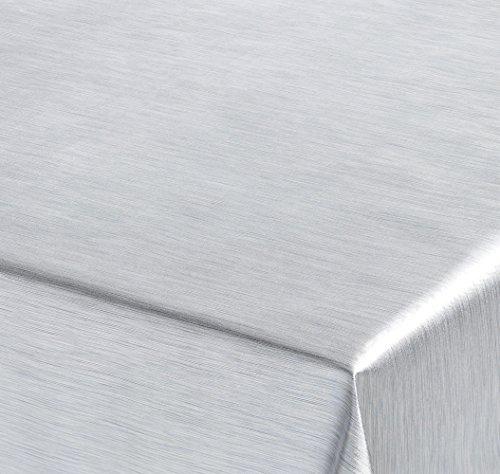 , Meterware Abwischbar, Metall Optik, SILBER, 100x137 cm, Länge wählbar, Beautex ()