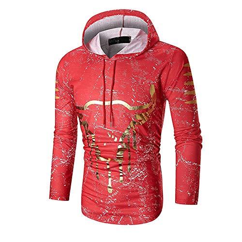 Herren Hoodie,TWBB Kapuzenpullover 3D Printing Pullover Lange Ärmel Mantel Outwear Sweatjacke Hemd