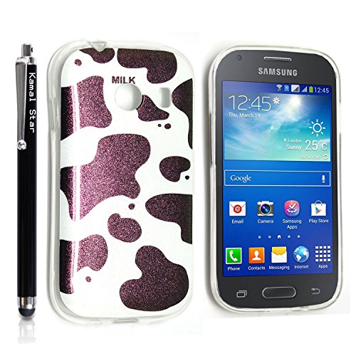 GSD STYLE YOUR MOBILE {TM} SAMSUNG GALAXY ACE STYLE SM-G310 GEL SILICONE SILIKON CASE SKIN GEL TPU Hülle COVER + STYLS (Shiny Milky Cow)