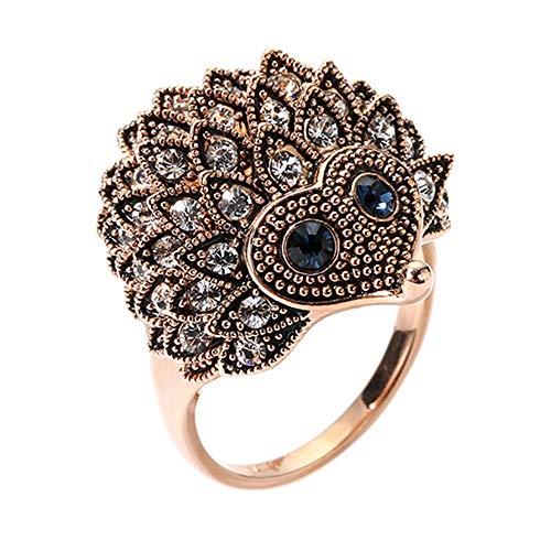 Donna matrimonio festa di compleanno gioielli vintage stile Bohemien riccio anello Amesii e Lega, 17, colore: Golden, cod. AME