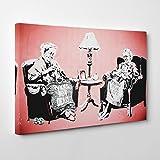 Arty Pie Banksy Postmortem Punks Not Dead Graffiti 1 Canvas Print, Multi-Colour, 24 x 16-Inch/60 x 40 cm
