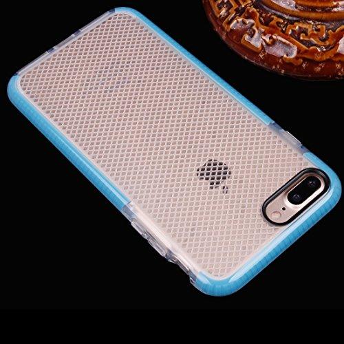 Für iPhone 7 Plus Plaid Texture Transparente TPU Schutzhülle DEXING ( Color : Purple ) Blue