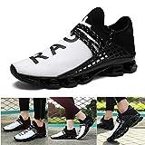 Hommes Mode Sneakers Confort Respirant Doux Maille De Sports De Plein Air Chaussures De Marche, White-shmz815, 39 EU