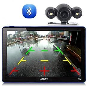 Xgody 886BT 17,8 cm (7 Zoll) LKW GPS Navigation mit Rückfahrkamera kapazitiver Touchscreen 8 GB Auto GPS Navigation NAV GPS Navigator System Lebenslange Karten Updates Gesprochene Turn-By-Turn Richtungen Advanced Lane Guidance