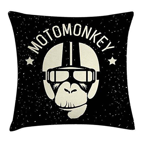 �berwurf Kissen Kissenbezug, Schild Alien Affe mit Astronaut Kostüm in eine Galaxy mit Poster Stars, dekorativer quadratisch Accent Kissen Fall, 45,7x 45,7cm, schwarz und weiß (Astronaut Kostüm Bilder)