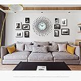 Fotorahmen Kollage Groß Foto-Wand-hölzernes Foto-Wand-europäisches Wohnzimmer-Restaurant-Foto-Rahmen-Wand Einfache kreative kreative Foto-Rahmen-Wand Stummschalten der Uhr ( Style : 2# )