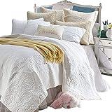 Paisley-Bettwäsche Design 100% Baumwolle weiße Tagesdecke King-Size-Bettwäsche-Sets