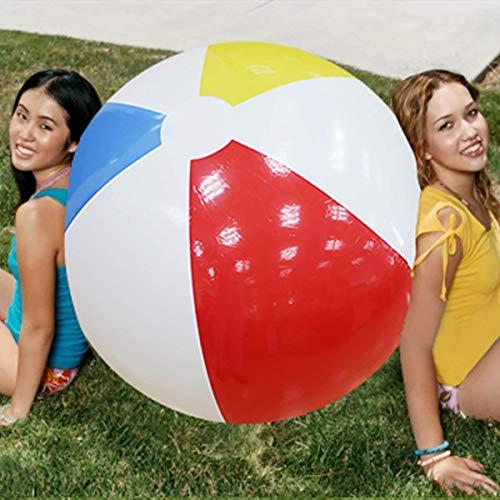 L&WB 100 cm Riesen Aufblasbare Wasserball Große DREI Farbe Verdickt PVC Wasser Volleyball Fußball Outdoor Party Kinder Spielzeug
