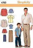 Simplicity 4760 Schnittmuster Hemden und Hosen für Jungen und Männer