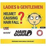 Batios Hair Guard - Perfumed Hair Shield For Helmet (Pack of 4)