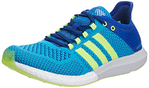 adidas Men's CC Cosmic Boost M Blue and Yellow Mesh Running Shoes - 7 UK  available at amazon for Rs.8399