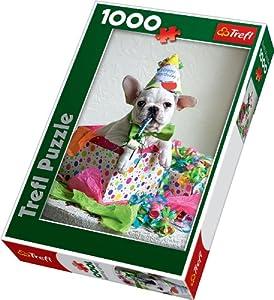TREFL 10308 - Puzle (1000 piezas), diseño de perro de cumpleaños