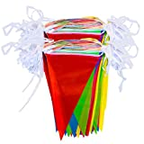 Bunting Banner, 250 Fuß Multicolor Nylon Wimpel Banner Flagge Außerhalb Partei Banner 200 Fahnen für Hochzeit Geburtstag Party Garten Marke Eröffnung Dekoration Indoor Outdoor Party Festival Dekorationen