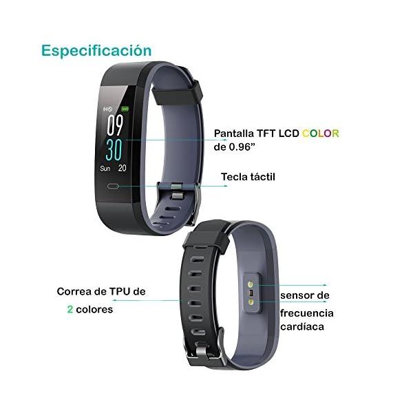 Willful Pulsera Actividad, Pulsera Actividad Inteligente Pantalla Color Reloj con Pulsómetro Impermeable IP68 Podómetro… 2