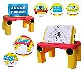Mesa multifunción MICKEY MOUSE 8433 (dibujo + cálculos matemáticos) color azul - Juguete infantil para niño y niña de estimulación y aprendizaje mws2033