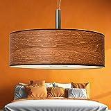 XXL   55cm   Wohnzimmer Deckenleuchte aus Holz   Natur   Hängeleuchte   Lampe   Walnuss   Esszimmer   Schlafzimmer   4x E27 Fassung  LED geeignet   dimmbar
