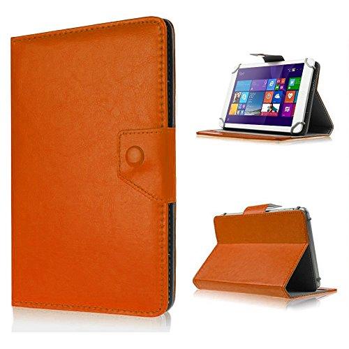 UC-Express Tasche für Odys Lux 10 Hülle Case Schutz Tablet Cover Schutzhülle Universal Bag, Farben:Braun