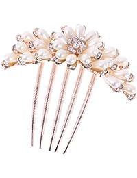 Peineta Peine de Pelo Horquilla Perlas de Imitación para Boda Baile Nupcial