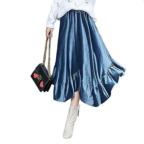 Years Calm - Jupe - Trapèze - Femme - bleu - Taille Unique