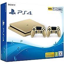 PlayStation 4 - Konsole (500GB, gold, slim) inkl. 2. DualShock Controller