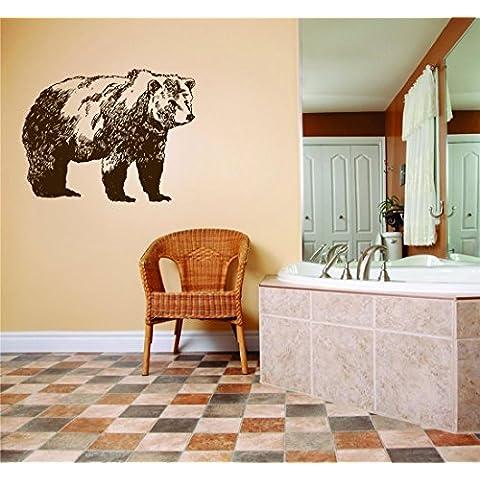 Caccia orso - Black & White - Foto Arte - Peel & stick adesivo da parete in vinile Sticker 15 x 25 - Pollici - Come visto - Cervi di 152 - Caccia Dei Cervi Decor